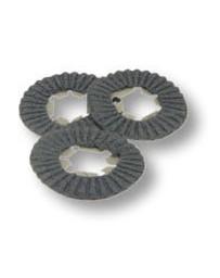 3 dischi lana acciaio da incollare per lucidatrice