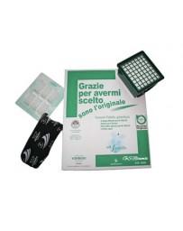 Confezione 6 sacchetti + 6 profumini + microfiltro igienico + 2 filtri odore VK 130 -131